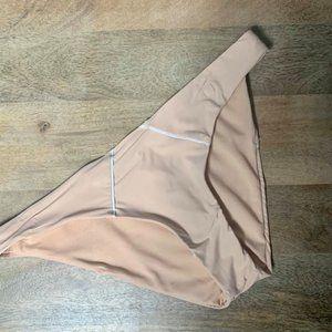 GIANNI BINI Solid Nude Blush Pipes Retro Bottom